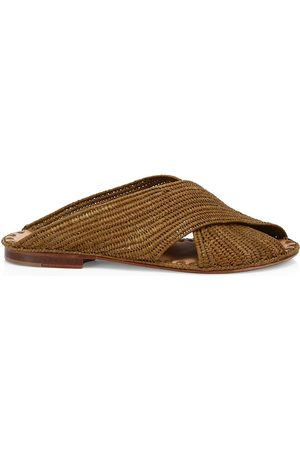 Carrie Forbes Women's Arielle Raffia Slide Sandals - - Size 35 (5)