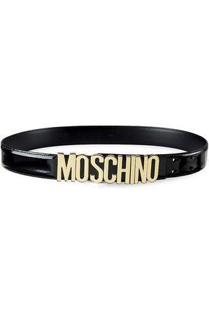 Moschino Women's Patent Leather Logo Belt - - Size M