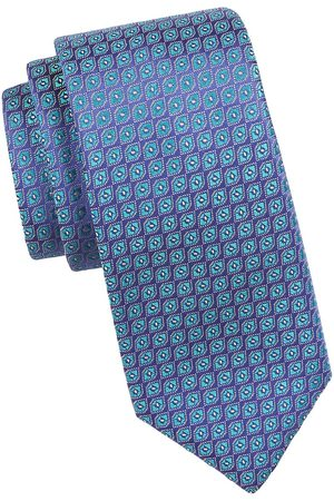 Charvet Men's Neat Diamond Silk Tie