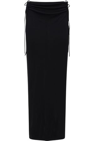 DION LEE Viscose Jersey Midi Skirt