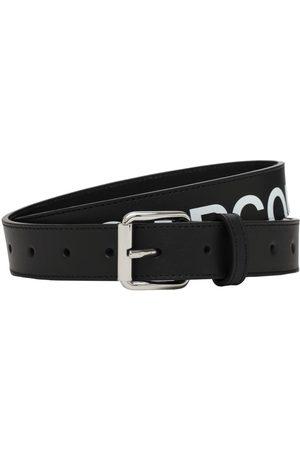 Comme des Garçons Logo Print Leather Belt