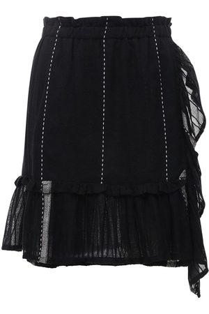 Lemlem Women Mini Skirts - Tikuri Striped Cotton Mini Skirt