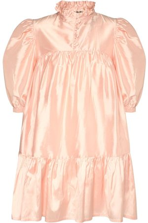 AVAVAV Ruffled Silk Shantung Mini Dress