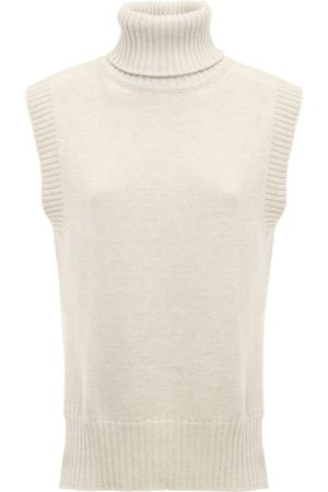 The Frankie Shop High Neck Wool Blend Knit Vest
