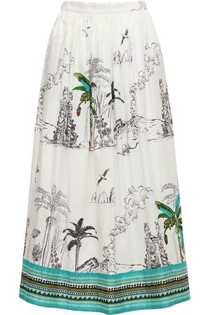 LE SIRENUSE, POSITANO New Jane Printed Cotton Midi Skirt
