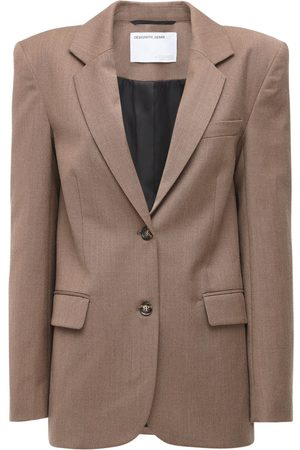 Designers Remix Salerno Double Breast Wool Blend Blazer