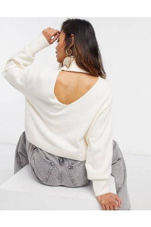 & OTHER STORIES & cutout high neck sweater in off