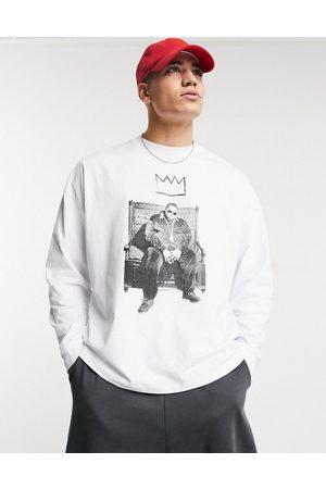 ASOS Biggie oversized long sleeve t-shirt with front print in