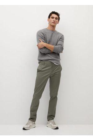 MANGO Men Chinos - Slim fit serge chino trousers