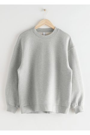 & OTHER STORIES Long Relaxed Cotton Sweater - Grey