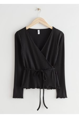 & OTHER STORIES Fitted Ribbed Wrap Top