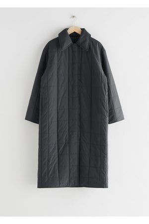 & OTHER STORIES Relaxed Padded Puffer Coat - Grey
