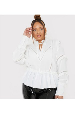 In The Style X Lorna Luxe ruffle trim blouse in