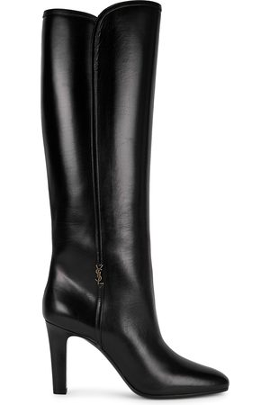Saint Laurent Women Thigh High Boots - Jane 90 leather knee-high boots