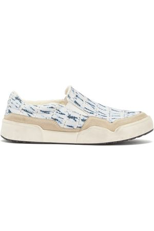 Isabel Marant Men Flat Shoes - Delleh Tie-dye Canvas Slip-on Trainers - Mens