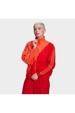 adidas Women's Originals Adicolor Sliced Trefoil Japona Track Top in / Size X-Small Nylon/Polyester