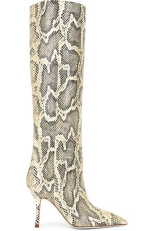 PARIS TEXAS Printed Python Mama Boot in Animal Print,Neutral