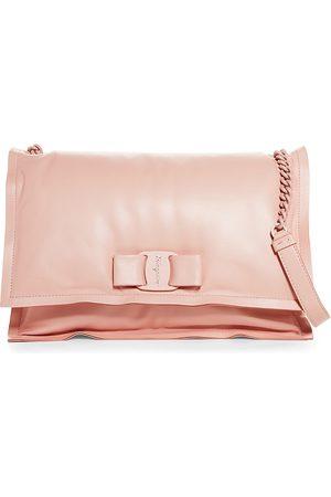 Salvatore Ferragamo Viva Roman Leather Shoulder Bag