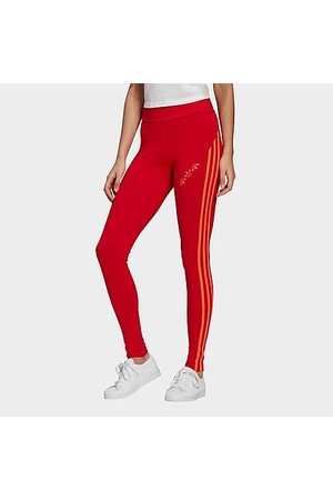 adidas Women's Originals Adicolor Sliced High Waisted Tights in Size X-Small Cotton/Jersey