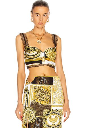 VERSACE Barocco Lace Bra Top in Paisley,
