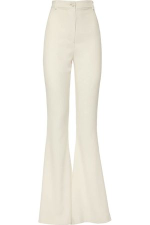 HEBE STUDIO Women Wide Leg Pants - Bianca High Waist Flared Cady Pants