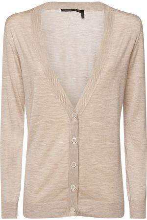 Agnona Women Cardigans - Cashmere & Silk Knit V Neck Cardigan