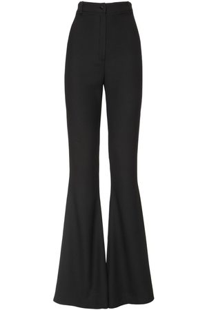 HEBE STUDIO Bianca High Waist Flared Cady Pants
