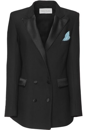HEBE STUDIO Bianca Double Breast Cady Blazer