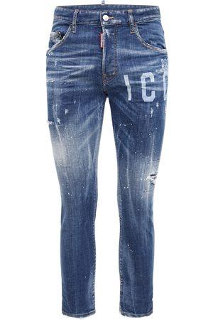 Dsquared2 Men Jeans - 16cm Icon Laser Print Skater Denim Jeans