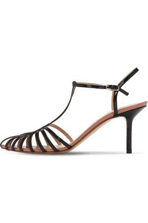 Francesco Russo Women Sandals - 75mm Patent Leather Sandals