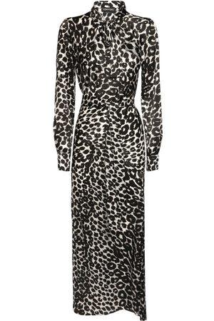 Tom Ford Leopard Print Silk Satin Dress