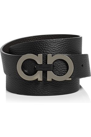 Salvatore Ferragamo Men's Double Gancini Buckle Reversible Leather Belt