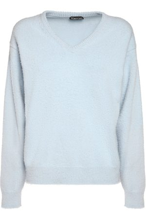 Tom Ford Women Sweaters - V-neck Cashmere Knit Sweater