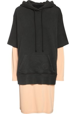 MM6 MAISON MARGIELA Cotton Jersey & Fleece Midi Hoodie Dress