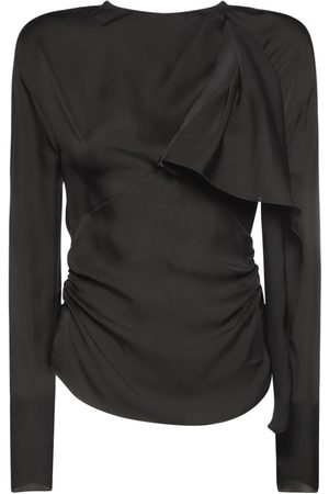 Tom Ford Women Tops - Silk Long Sleeve Top W/ Cutout