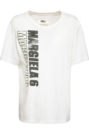 MM6 MAISON MARGIELA Women T-shirts - Printed Cotton Jersey T-shirt