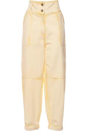 Alberta Ferretti Cotton Denim Wide Leg Jeans