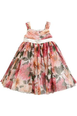 Dolce & Gabbana Floral Print Tulle Dress
