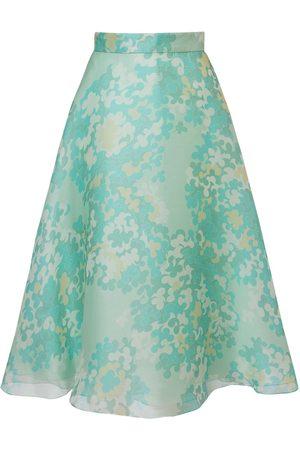 Emilio Pucci Printed Silk Organdy Midi Skirt