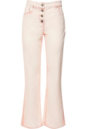 Alberta Ferretti Tie Dye Cotton Denim Wide Leg Jeans