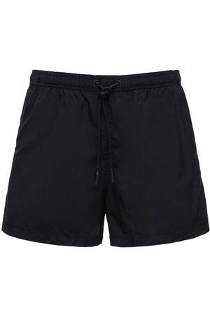 MARCELO BURLON Logo Cross Embroidery Nylon Swim Shorts