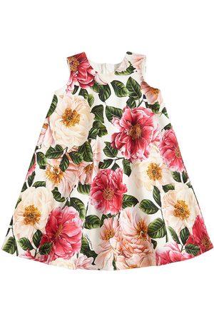 Dolce & Gabbana Floral Print Cotton Interlock Dress