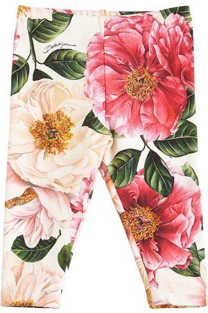 Dolce & Gabbana Floral Print Interlock Leggings