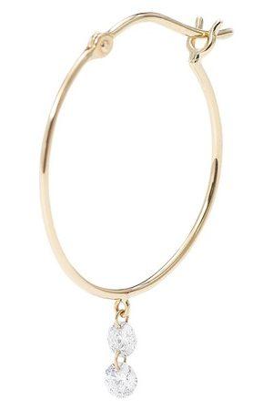 PERSÉE Single earring Hoop 2 diamonds
