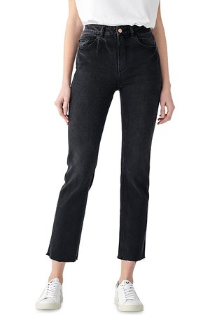 Dl 1961 Patti High Rise Vintage Straight Jeans in Corvus