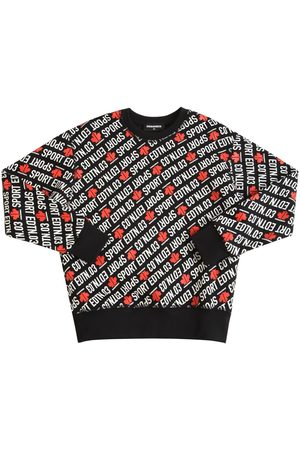 Dsquared2 All Over Print Cotton Blend Sweatshirt