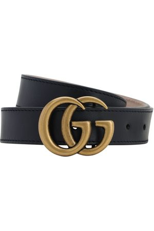 Gucci Girls Belts - Logo Leather Belt