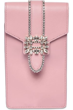 Roger Vivier Women Shoulder Bags - Embellished Leather Shoulder Bag