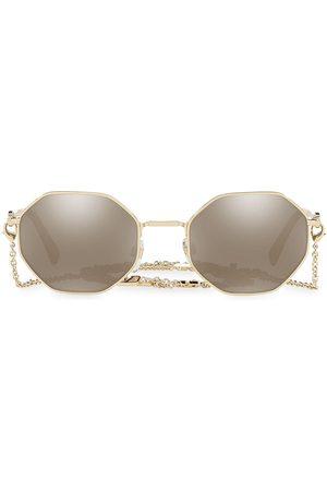 VALENTINO Women's 52MM Mirrored Chain Geometric Sunglasses
