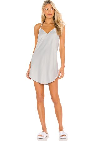 Flora Nikrooz Victoria Solid Charm Chemise in Grey.
